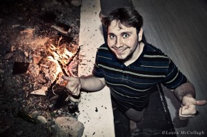 chris & his fire...