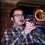 Captain Stu trombonist(?) with Fox Comet