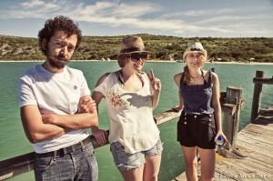 Leon, Jess & Kath on the Kraalbaai jetty