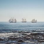 3 tallships passing 3 Anchor Bay