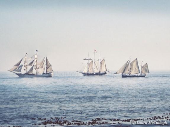 3 Dutch tall ships passing 3 Anchor Bay