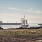 departing ships