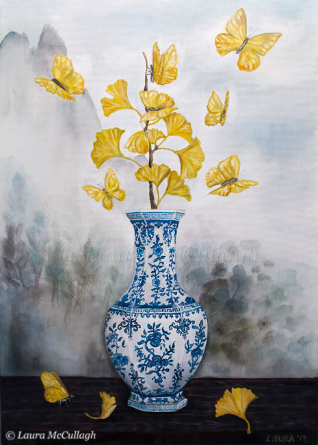 New Painting Chinese Vase Lauras Pics Ramblings