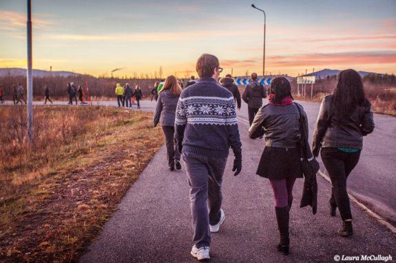 Sunset walk to Arena Arctica